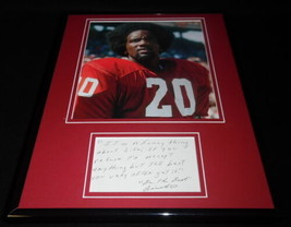 Billy Sims Signed 11x14 Quote & Photo Display Oklahoma Detroit Lions - $83.79