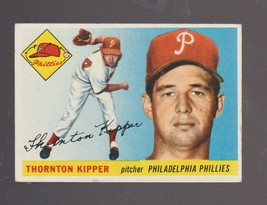 1955 Topps Baseball Card # 62 Thornton Kipper Philadelphia Phillies EXCE... - $2.84