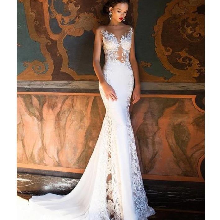 appliques lorie mermaid bride gowns sexy see through floor f730c451 6630 43a0 b569 e0273e77c4f3