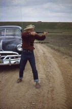 Lot Of 5 1950s Kodachrome Red Border Male With Gun & Posing Model Amateu... - $25.14