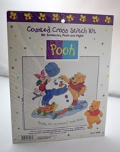 "Mr. Snowman, Pooh and Piglet Disney Counted Cross Stitch Kit - 10"" x 8.75"" - $18.95"