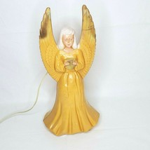 """Union Products Blow Mold Angel 18"""" Gold Star Burst Vintage Lighted Chris... - $36.98"""