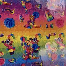 Vintage Lisa Frank Complete Sticker Sheet S360 CHEER BEARS  RARE  1daySHIP! image 3