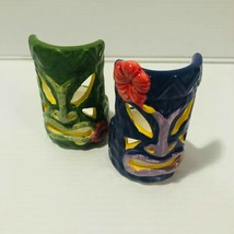 Yankee Candle Hawaiian Tiki Mask Small Tealight Candle Holder Set Collec... - $19.75