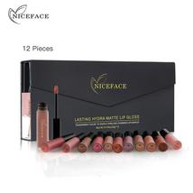 NICEFACE 12Pcs/Set Matte Long-Lasting Lipstick 12 Colors Lip Gloss Water... - $27.24