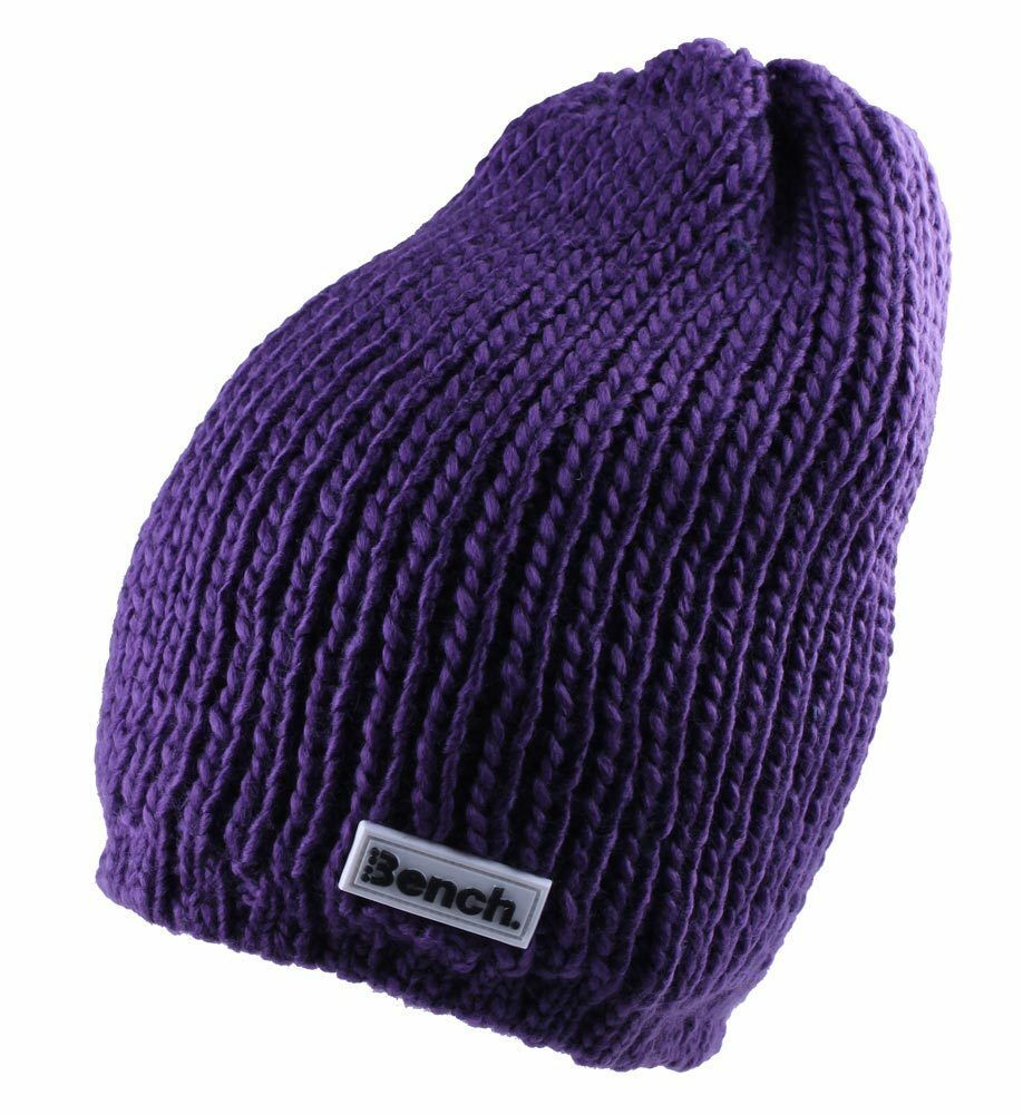 Bench Women's Petunia Purple Jayme Acrylic Knit Slouch Beanie Winter Hat NWT