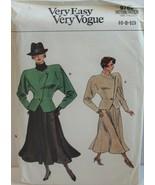 Vogue Sewing Pattern 9762 Misses Jacket Skirt Size 6 8 10 - $18.37