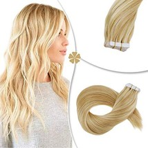 Hetto 14 Inch Brazilian Tape in Hair Extensions 50G 20 Pieces Highlighted Seamle