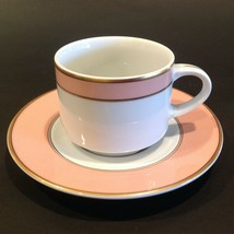 Fitz & Floyd Renaissance Peach (Switzerland) Restaurant Coffee Cup And Saucer - $22.99