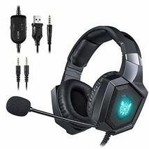 ONIKUMA Gaming Headset - Updated K8 Headset Gaming for PS4 New Xbox (Black) - $44.02
