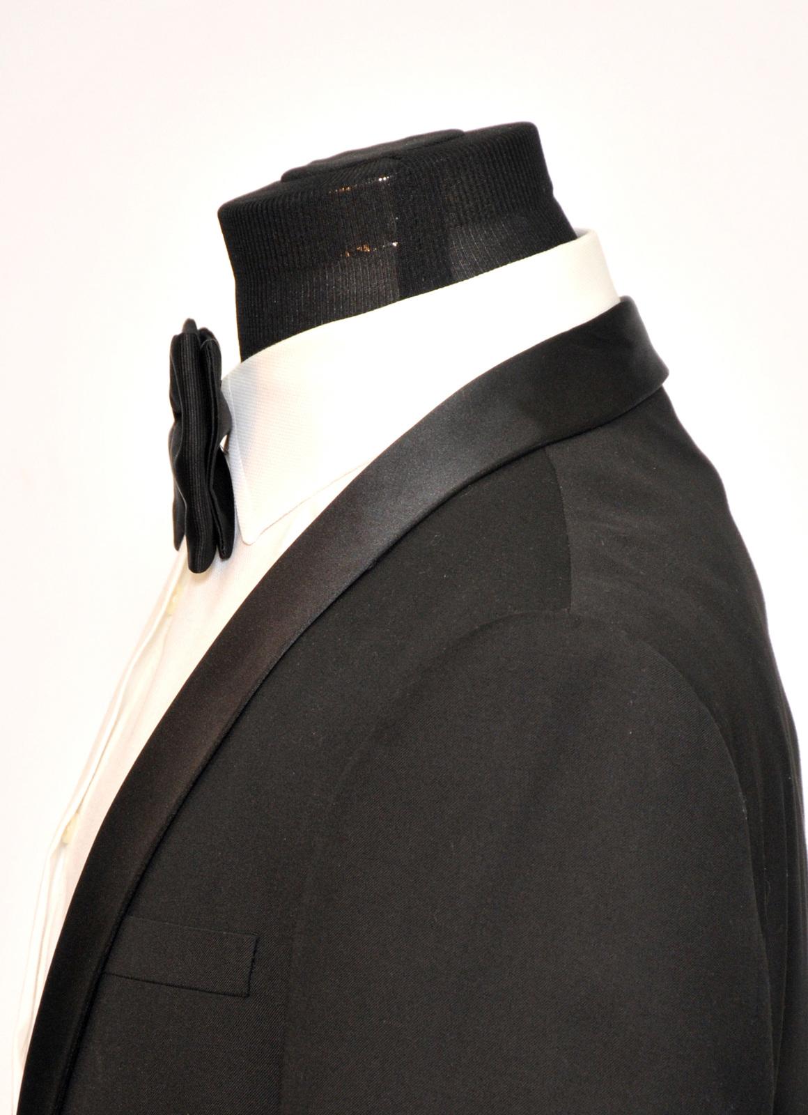 Mens FERUCCI  Oversized Bow Tie - Black Silk Bowtie, Mens big bow tie