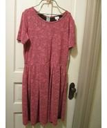 LuLaRoe Pink Rose on black floral brocade Stretchy Amelia Dress USA 3XL - $40.00