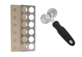 Norpro Combo: Ravioli Maker w/ Press Pasta Mold Tool & Pastry/Ravioli Wheel - €23,67 EUR