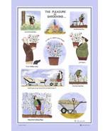 Samuel Lamont UK Tottering Pleasure of Gardening Linen Union Kitchen Tea... - $15.99