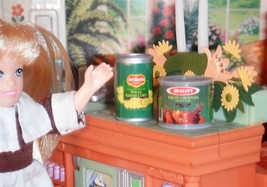 Barbie Rement Canned Food Lot Delmonte Corn Quality Fruit Cocktail Dollh... - $5.99