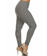 Womens Buttery Soft Houndstooth Plus Size Leggings - $10.88+