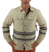 NEW LEVI'S MEN'S SHAN CLASSIC LONG SLEEVE STRIPED WOOL SHIRT BISCOTTI 3LDLW205 image 1