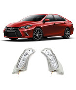 2015- 2018 Toyota Camry Chrome Clear Front Signal Bumper LED Driving Fog... - $98.99