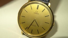 Large 36mm 70s Omega De Ville Gold Plated 151.0039 Cal. 711 24J Automati... - $721.22