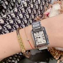 Vintage Square Women Business Watches Anti Fading Purple Bracelet Watch ... - $41.57