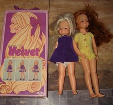 Ideal Velvet Doll With Box & Crissy 15 Inch Doll Lot 1970 - $49.99