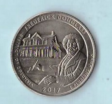 2017 D Washington Quarter - District of Columbia - Frederick Douglas - AU55 - $1.25