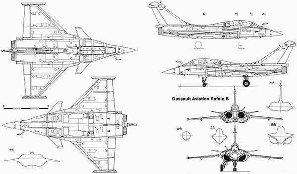 Primary image for Dassault Aviation Rafale B - Blueprint Poster