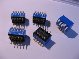 DIP Switch ECE 5 Position Through Hole Mount Right Angle - NOS Qty 5 - $4.74