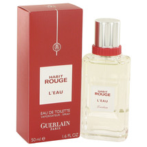 Habit Rouge L`eau by Guerlain Eau De Toilette  1.6 oz, Men - $29.35