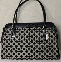 COACH Madison Op Art Sateen Kimberly Carryall Handbag Black White - $129.99