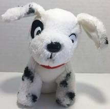 Disney 101 Dalmatians puppy smooth tummy plush black spot patch eye vint... - $11.57