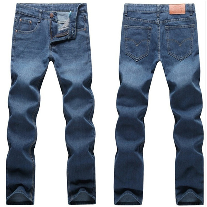 Men's fashion classic wash jeans
