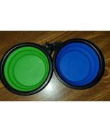 2-Pack Small Size Collapsible Dog Bowl, Food Grade Silicone BPA Free - $4.95