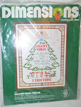 Dimensions Counted Cross Stitch Christmas Tree 1983 Welcome Friend 8302 ... - $13.30