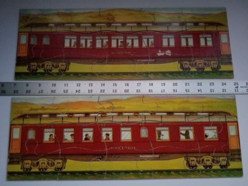 Twilight Express Puzzle Milton Bradley Antique Jigsaw Pieces Box Toy Treasure image 4