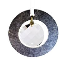 Medium Aluminum and Crystal Circle Ornament - Wavelet image 1