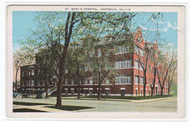 St Mary's Hospital Centralia Illinois 1920s postcard - $5.94