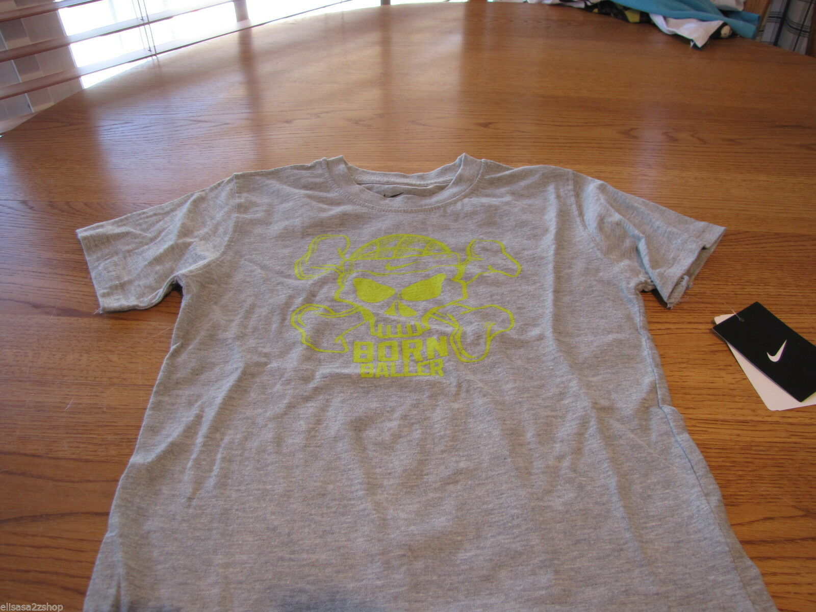 Boy's Youth 4T Nike born Baller smack talk sports grey T shirt TEE NEW NWT logo image 2