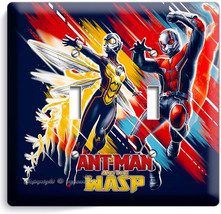 Ant Man And The Wasp Small Superheroes 2 Gang Light Switch Wall Plate Room Decor - $11.69