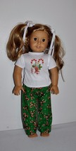 AMERICAN MADE DOLL CLOTHES FOR  AMERICAN GIRL DOLLS - CANDY CANE PJS - $12.99