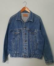 LEVI'S Vintage 70507-0218 Blue Jean Trucker JACKET RED TAB USA Made Men'... - $47.49