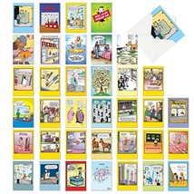 Favorite Toons Collection': Assorted Box of 36 Funny Mixed Occasions Car... - $24.54