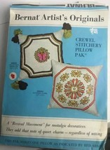 Bernat Crewel Kit Maltese Cross Pillow Pal Artist Original Craft  Needle... - $14.85