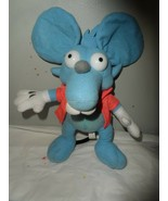 2006 Nanco Fox The Simpsons Itchy Plush Mouse Blue And Orange Vest 10 In... - $7.87