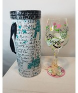 DELISH FIFTH AVENUE HAND PAINTED CRYSTAL STEMWARE BRIDAL SHOWER DESIGN NWT - $29.35