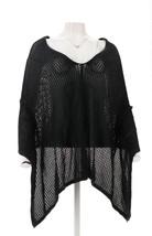 Nene Leakes Crochet Poncho Black XS NEW 463-505 - $41.56