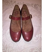 Korks Kork-Ease Burgundy Leather Diana Platform Mary Janes Women's Size 9 M - $37.04