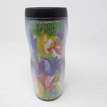 Starbucks 2001 Barista Tulips Travel Tumbler Mug Coffee Hong Kong Flowers - $24.70