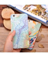 Roybens® IPhone 6 Case Luxury Retro Space Marble Map Hard Plastic Cover - $4.88