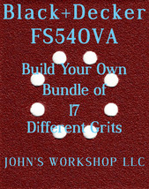 Build Your Own Bundle Black+Decker FS540VA 1/4 Sheet No-Slip Sandpaper 17 Grits! - $0.99